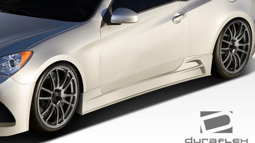 2010-2016 Hyundai Genesis Coupe 2DR Duraflex J-Spec Side Skirts Rocker Panels