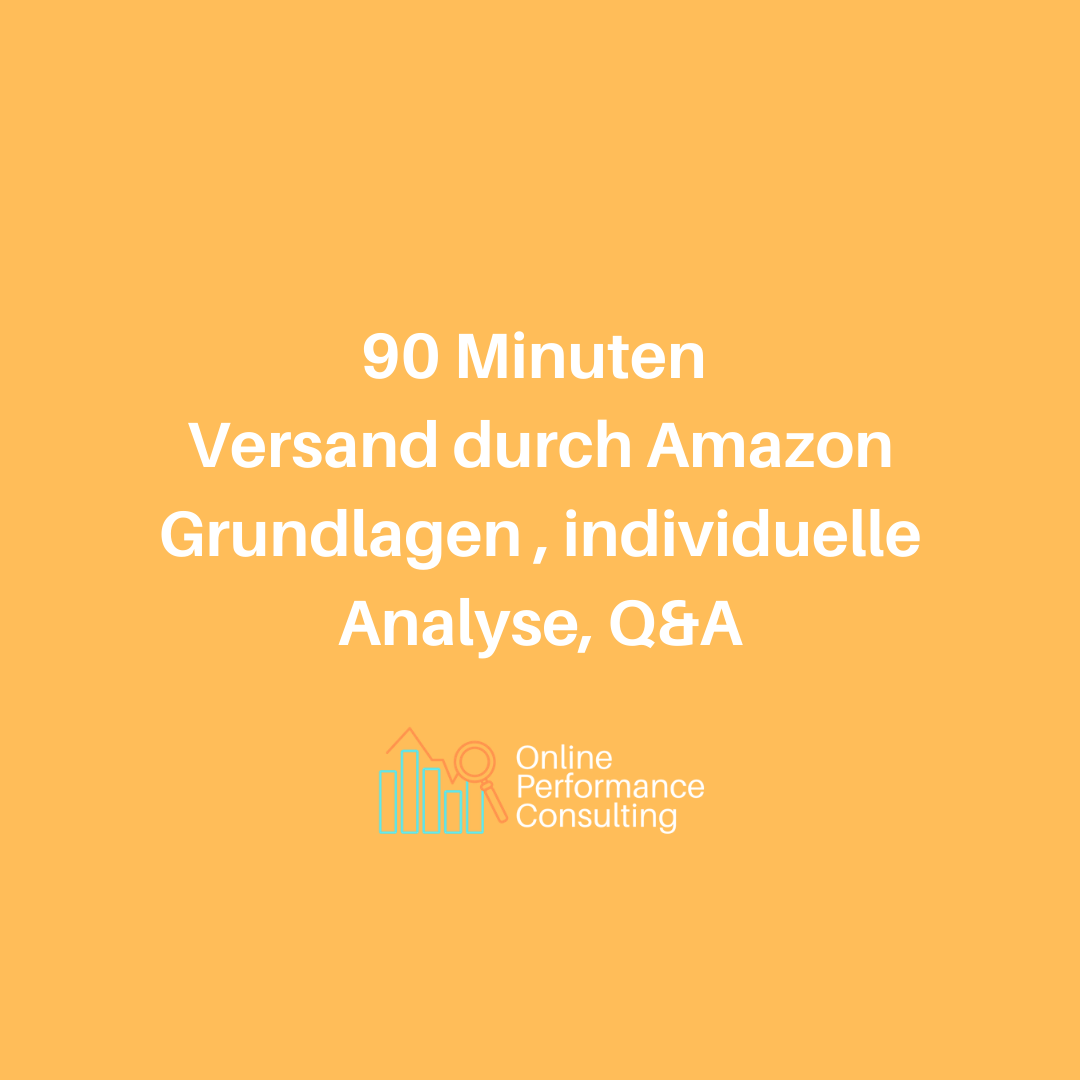 90min FBA Beratung, Analyse, Q&A