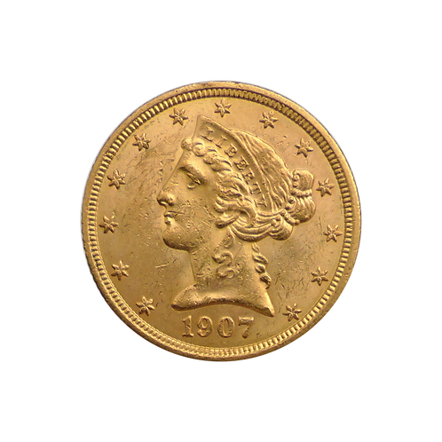 5 Dollar Liberty Head (mit ZERTIFIKAT)