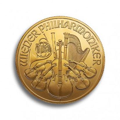 Wiener Philharmoniker 1 oz Goldmünze (mit ZERTIFIKAT)