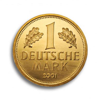 Goldmark 1 DM 2001 Goldmünze (mit ZERTIFIKAT)
