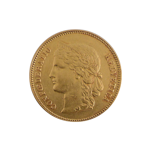 Helvetia Goldmünze 20 Franken Schweiz (mit ZERTIFIKAT)
