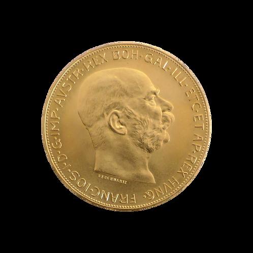 100 Gold Kronen Österreich (mit ZERTIFIKAT)