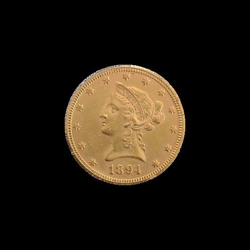 10 Dollar Liberty Head (mit ZERTIFIKAT)