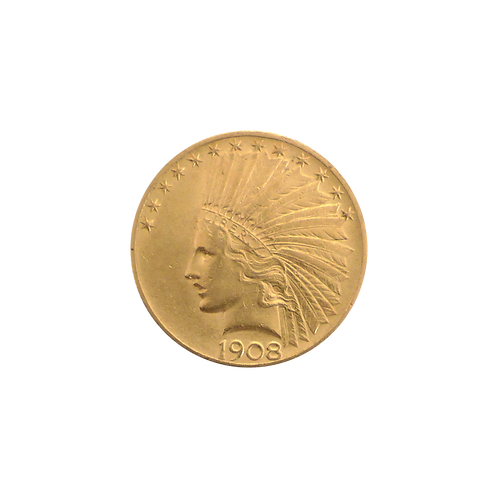 10 Dollar Indian Head (mit ZERTIFIKAT)