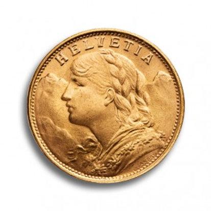 Vreneli Goldmünze 20 Franken Schweiz (mit ZERTIFIKAT)