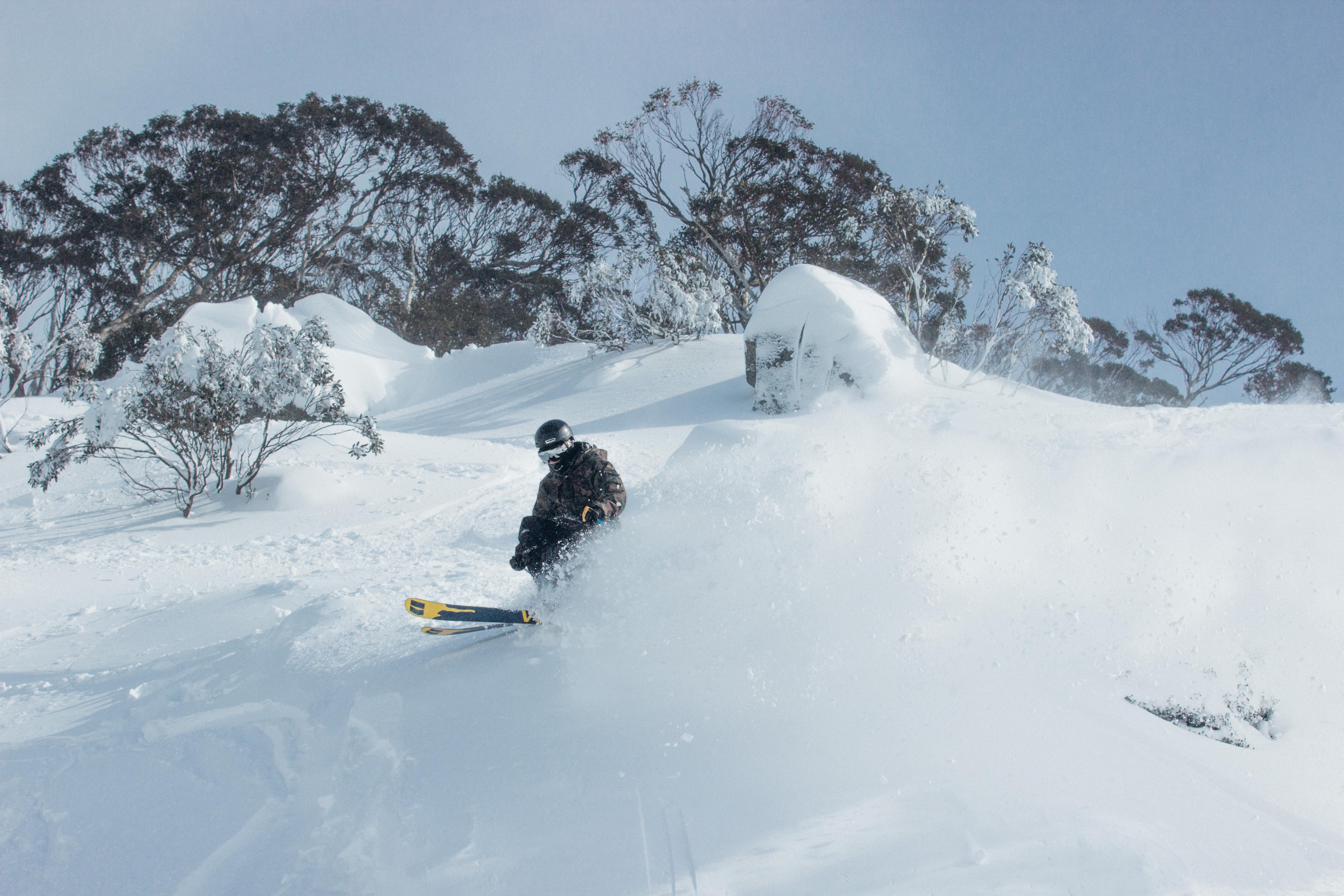 Skiing Powder at Perisher