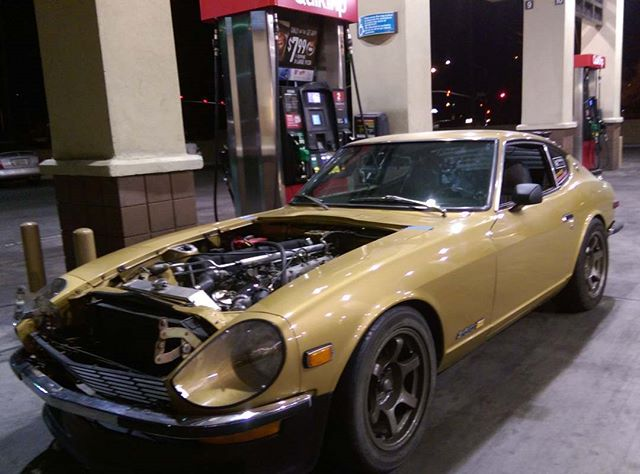 Goldie got to go to the QuikTrip!  A little fuel for both of us.  The Megasquirt was autotuning all