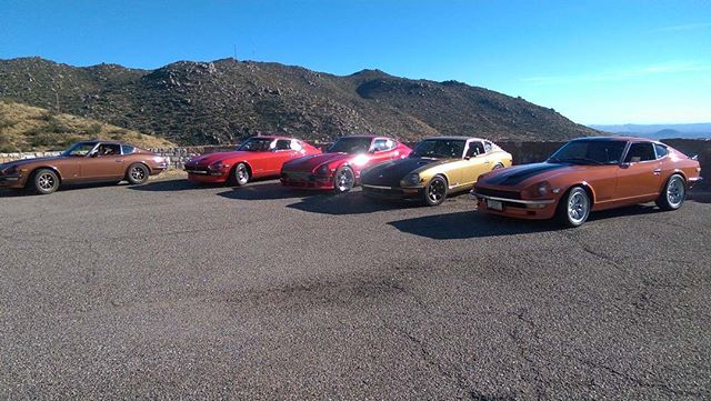A few Z's headed back from Bagdad (Arizona) #datsun #s30 #240z #260z #280z #l28et #rb25det #l28 #tri