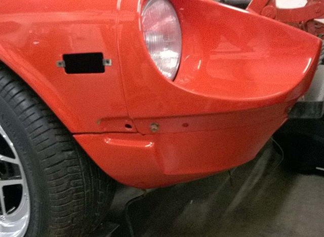 This is the front valence piece on Jim's Swiss 240Z