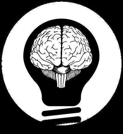 Logo of a brain in a lightbulb