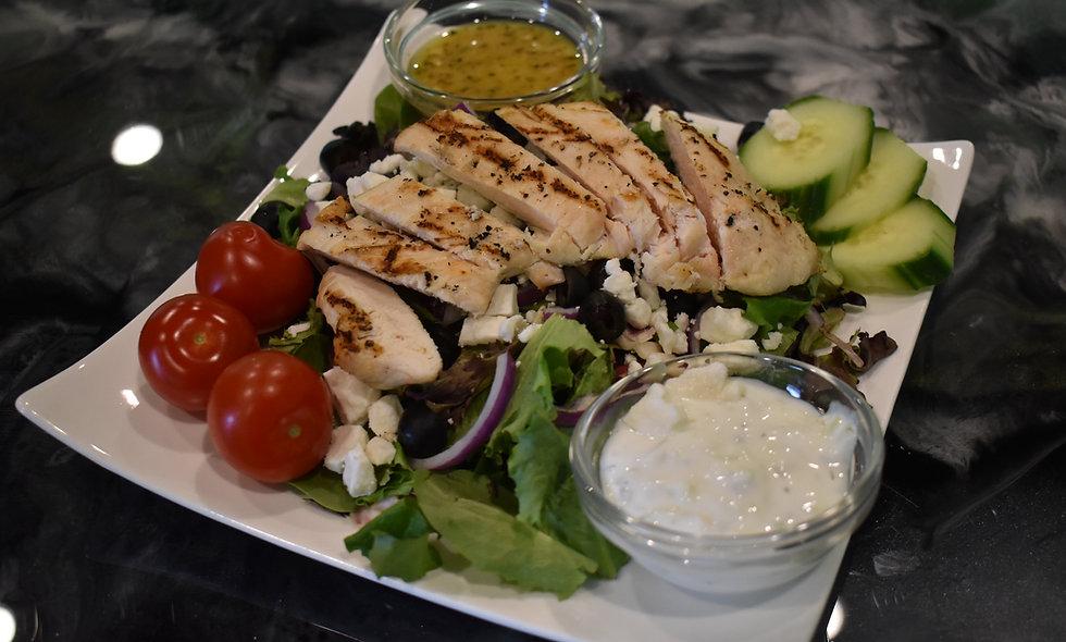 Chicken Soulvaki Salad