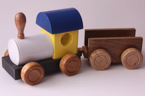 Train en bois avec 1 wagon  NO: J7