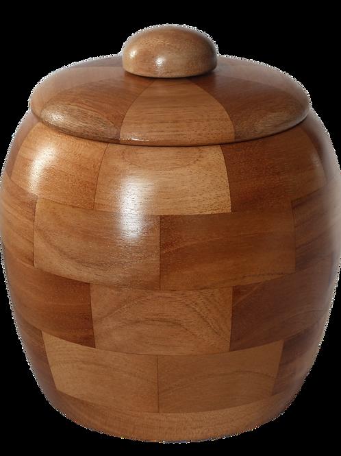 Urne fabriqué en bois de sapelli. NO: 6