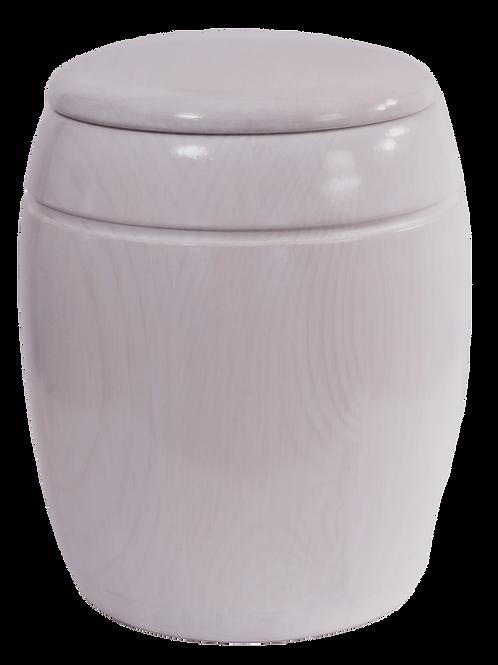 Urne en pin blanchi imitation de marbre. NO: 2