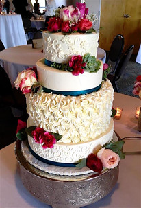 What bride doesn't make her own wedding cake?!  We had so many guests telling us afterwards that it was the best cake they'd ever had. I couldn't be happier as both a bride and a baker!