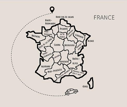 Carte de france, régions, terroir, tradition, spécialités, local, voyage, aventure