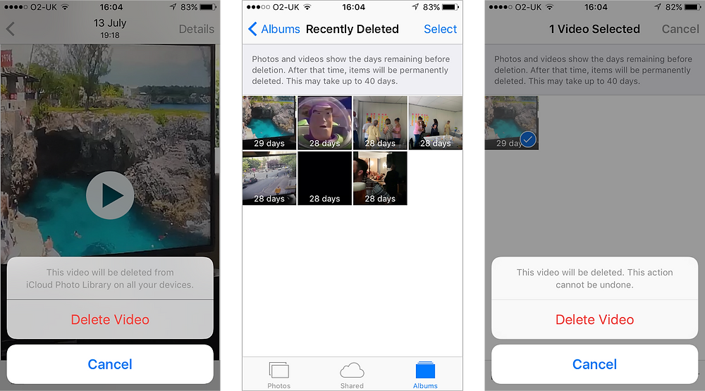 Apple Photos application is unnecessarily protective by requiring two deletion confirmations