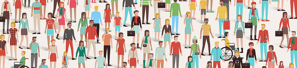 Crowd of people with varying abilities who are all vital to your business success