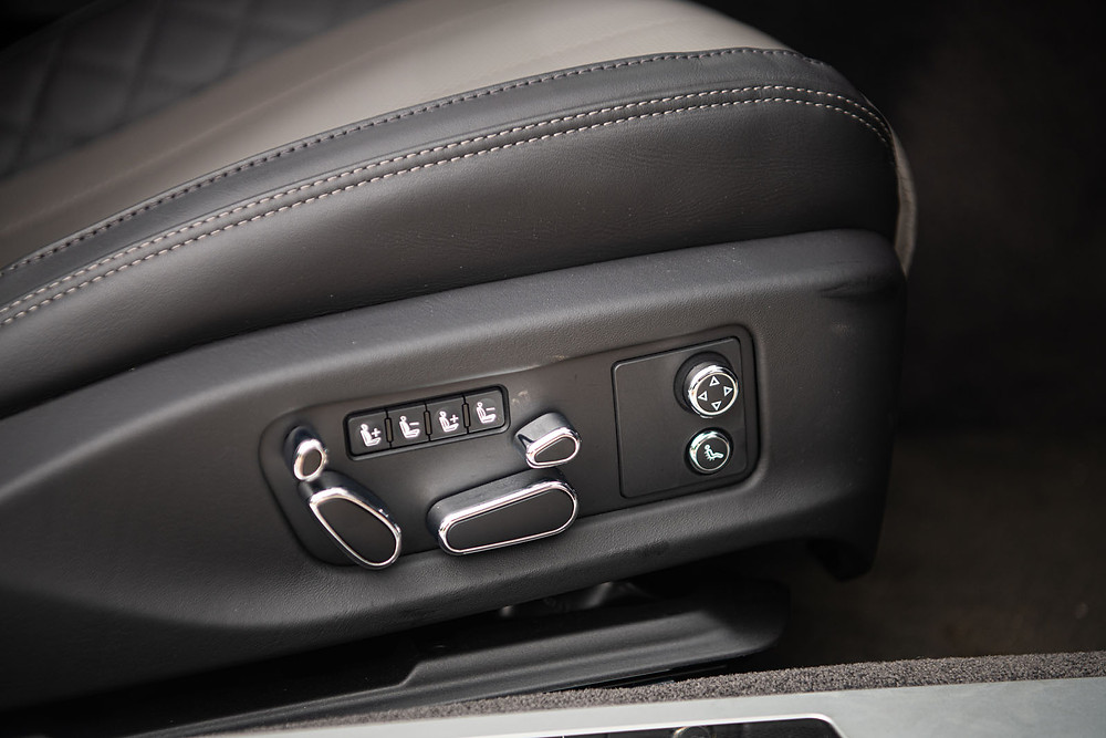 Bentley Continental Seat Positioning Controls that map to the physical structure of the seat