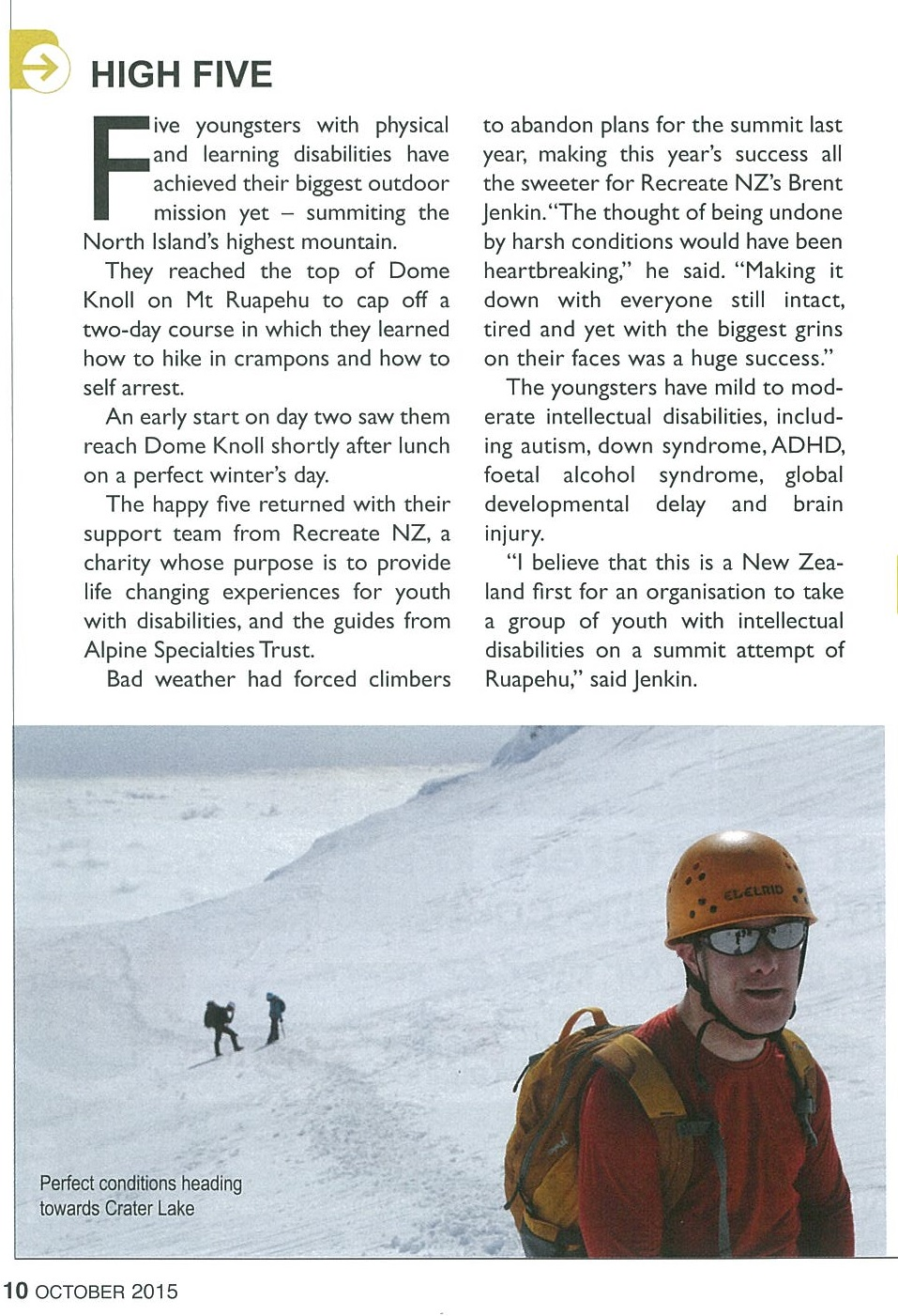 Seeking Summits - Wilderness Magazine October 2015