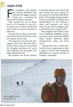 Seeking Summits - Wilderness Magazine October 2015