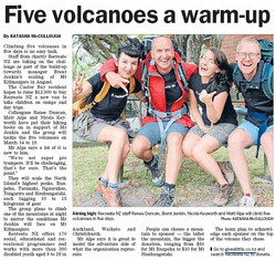 5 Volcanoes 5 Days North Shore Times Feb 2014