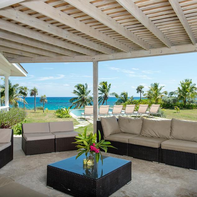 The 7 Palms patio area