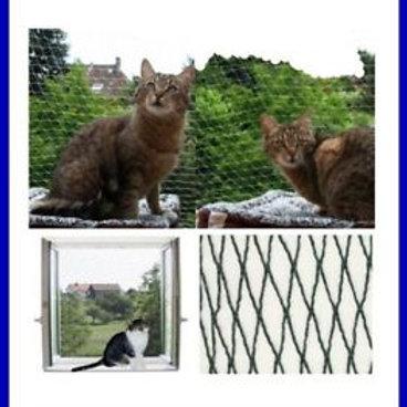 Katzenschutznetz gewirkt 2x10 m inkl. Kabelbinder