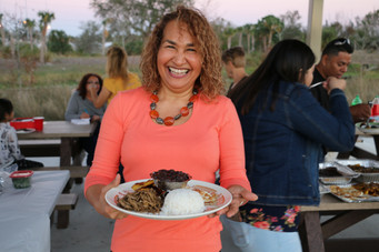 Families of the Treasure Coast: Aura showing off her beautiful dish.