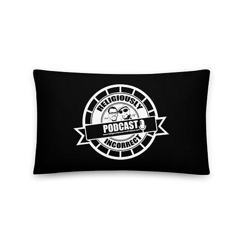 Religiously Incorrect Podcast Branded Basic Pillow