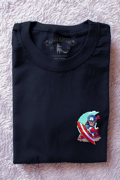 Tshirt Black Capitão América