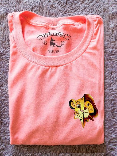 Tshirt Rosa Rei Leão