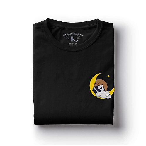 Tshirt Preta Urso sem curso Moon