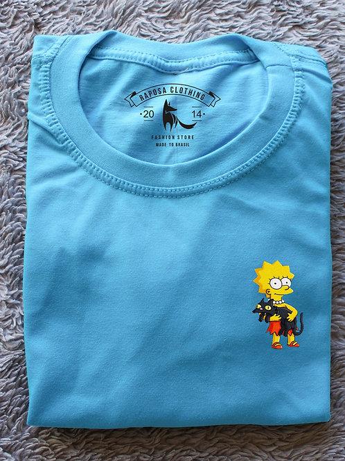 T'shirt Lisa Cat Baby Blue