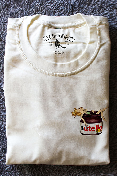 Tshirt Branca Nutella Lovers