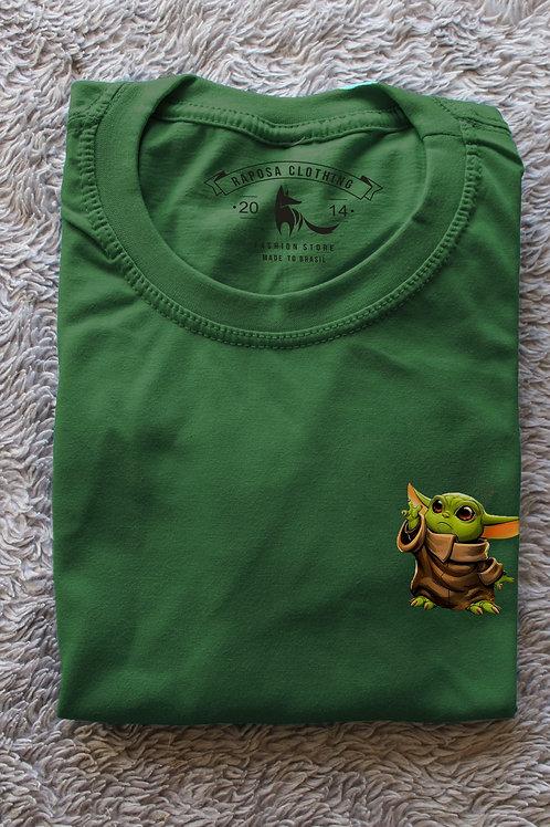 Tshirt Verde litle Yoda
