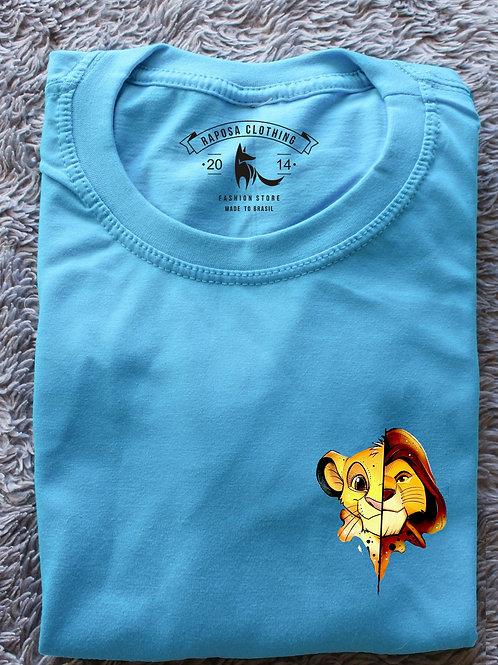 Tshirt Geek Blue Rei Leão  Kids
