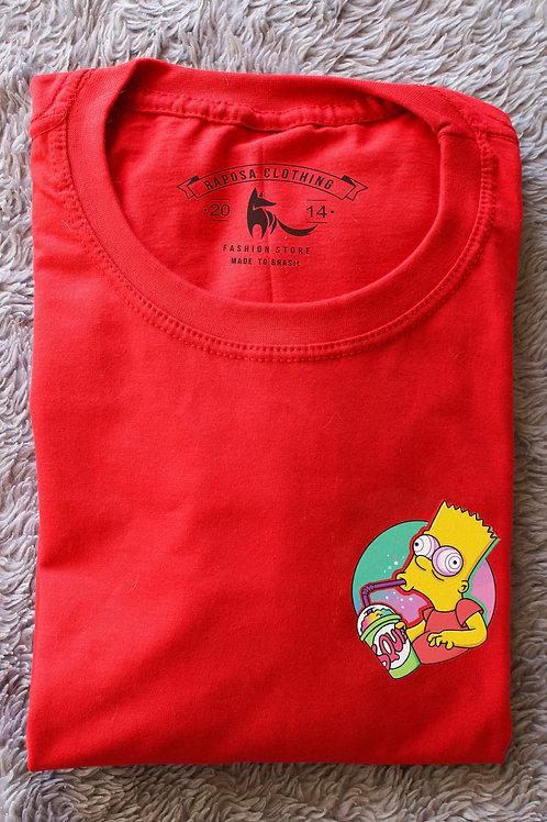 Tshirt Vermelha Bart Vibes