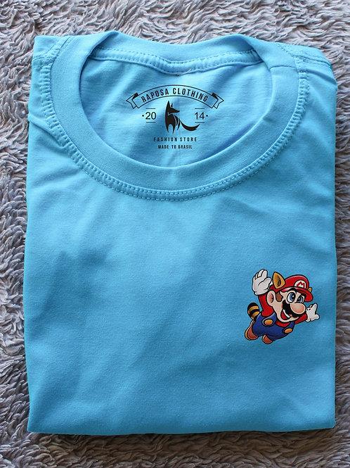 Tshirt Geek Blue Mario Castor Kids