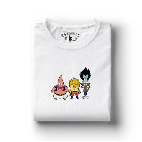 Tshirt Branca Bob esponja Cosplay