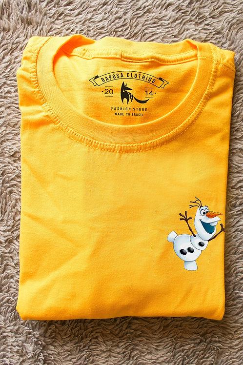 Tshirt Geek Amarela Olaf Kids