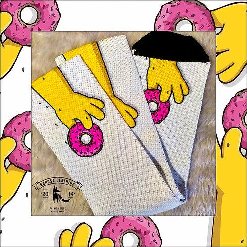Meia Cano alto Homer Donut