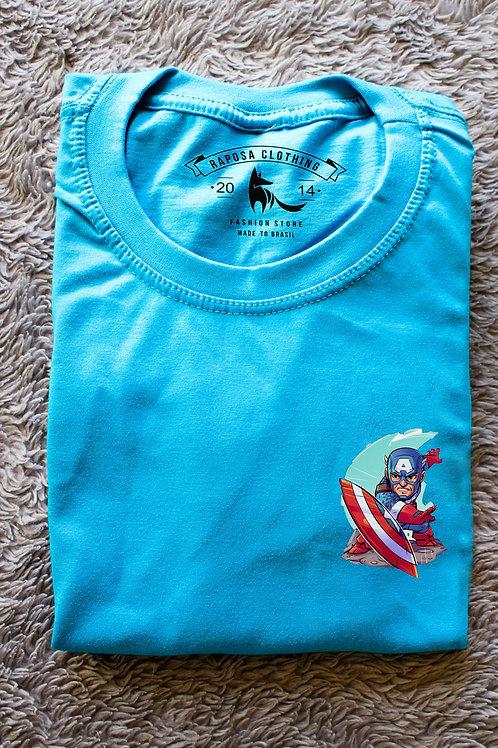 Tshirt Blue Capitão América