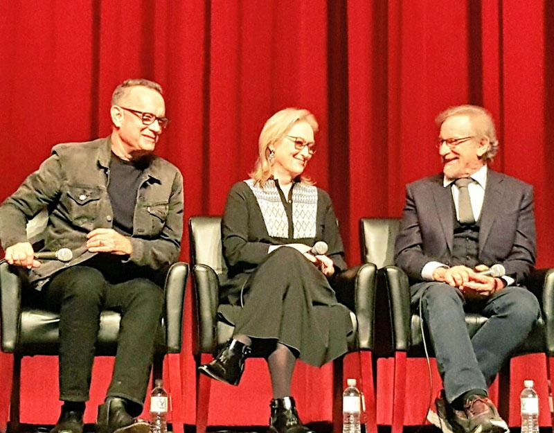 Hanks. Streep. Spielberg.