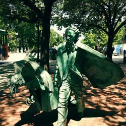 Walking With Poe in Boston