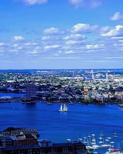 Sailing into the Boston Blue