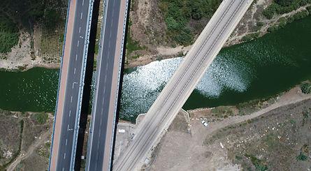 צילום אוויר כבישים ותשתיות