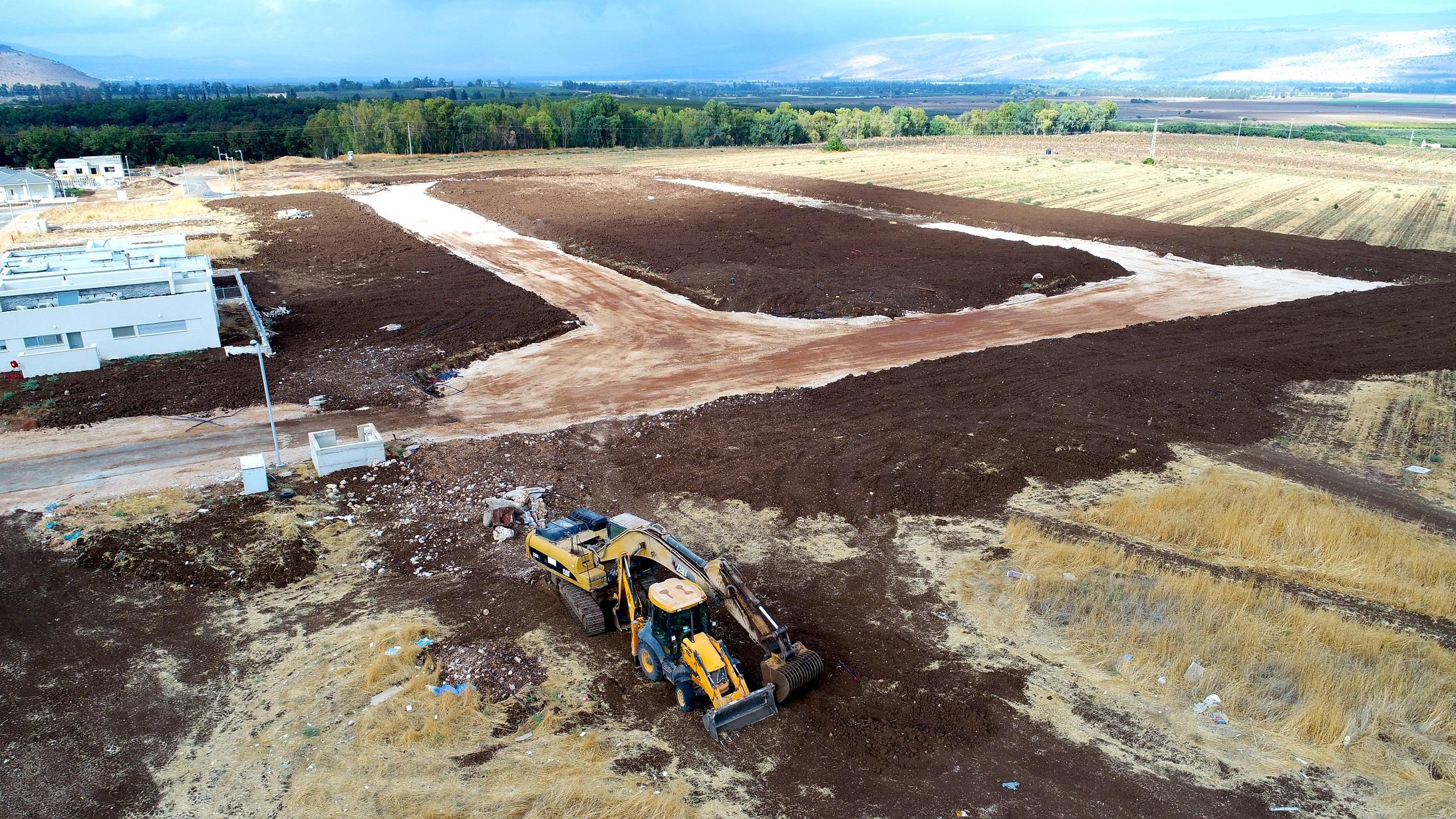 צילום עבודות פיתוח קרקע