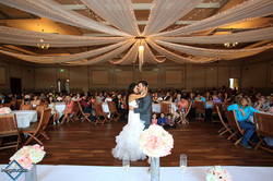 Dancin' Shoes DJ and Lighting - first dance twinkle drape lighting - reception wedding lighting